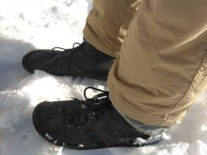 Vivobarefoot Men's Gobi II black in snow