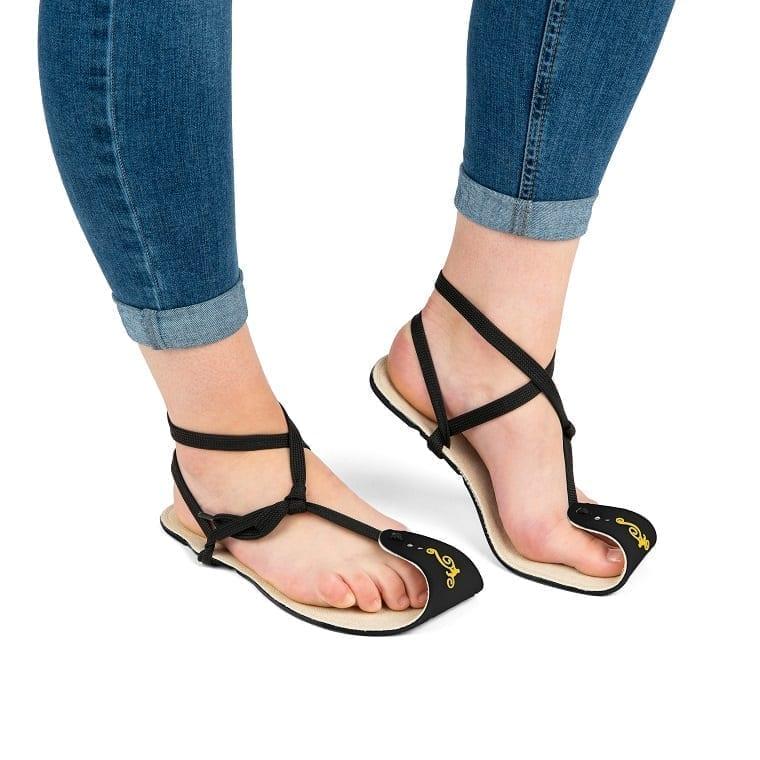 Magical Shoes MINIMALIST SANDALS CABALLO BLANCO HEMP BLACK picture 3