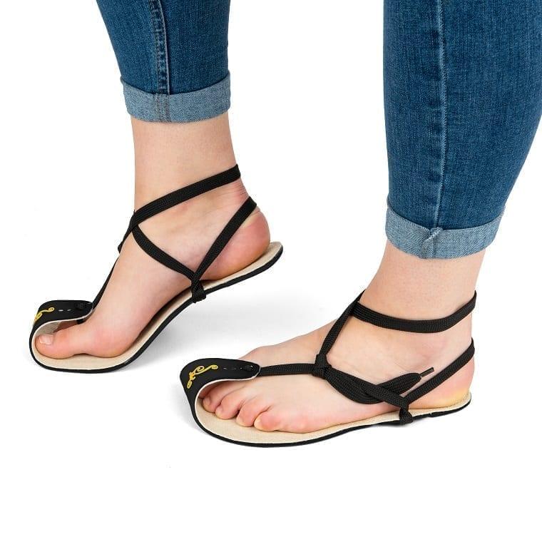 Magical Shoes MINIMALIST SANDALS CABALLO BLANCO HEMP BLACK picture 5