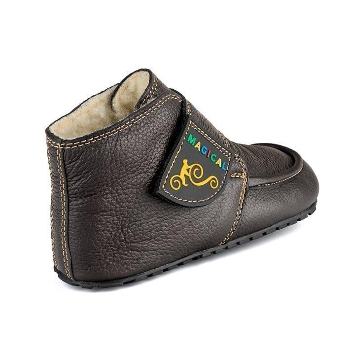 Magical Shoes WINTER BAREFOOT KIDS BOOTS – ZIUZIU BARK BROWN picture 4