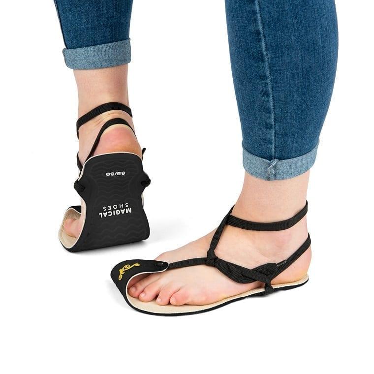 Magical Shoes MINIMALIST SANDALS CABALLO BLANCO HEMP BLACK picture 4