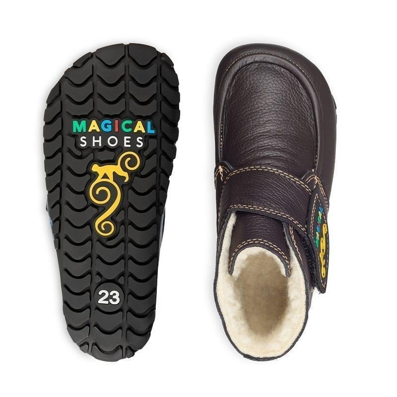 Magical Shoes WINTER BAREFOOT KIDS BOOTS – ZIUZIU BARK BROWN picture 2