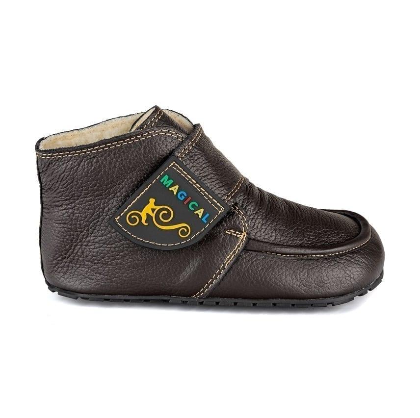 Magical Shoes WINTER BAREFOOT KIDS BOOTS – ZIUZIU BARK BROWN picture 3