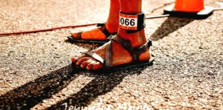 xero shoes z-trail closeup after an ultramarathon