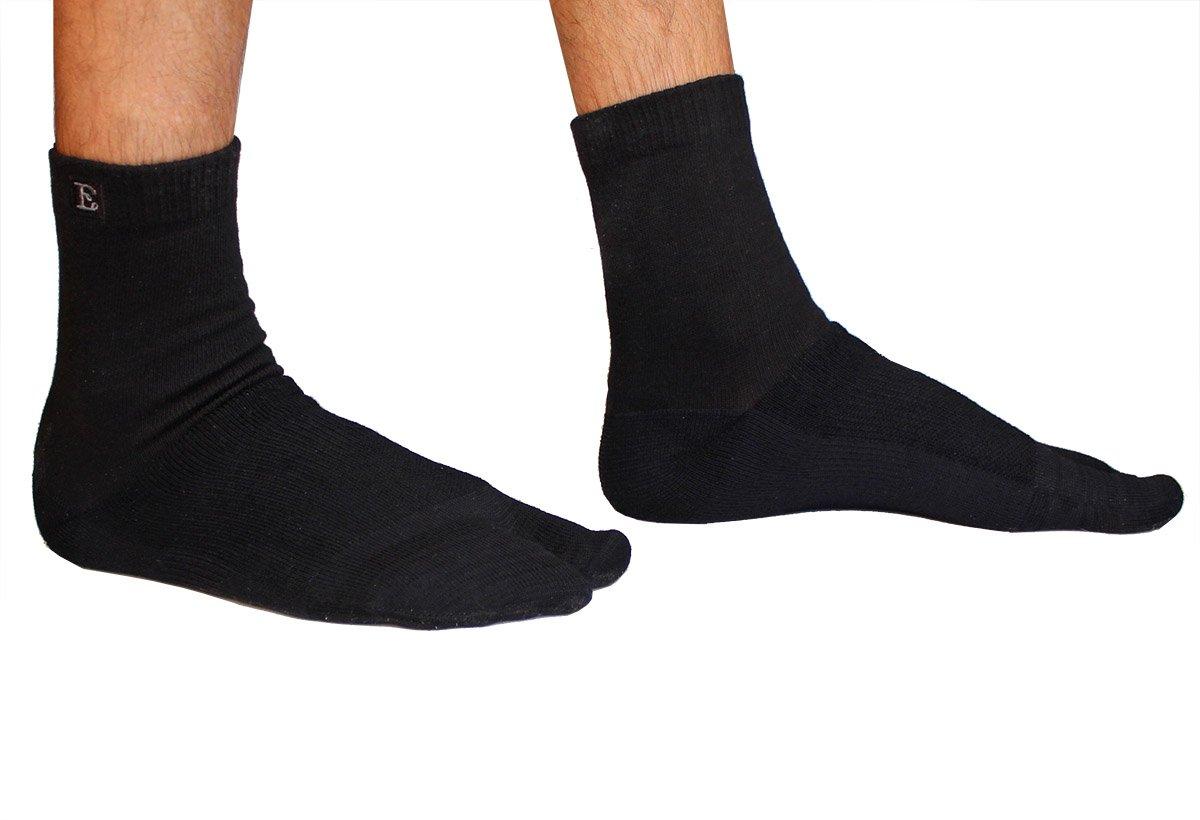 Crew Wool Tabi Socks - Black Picture 3
