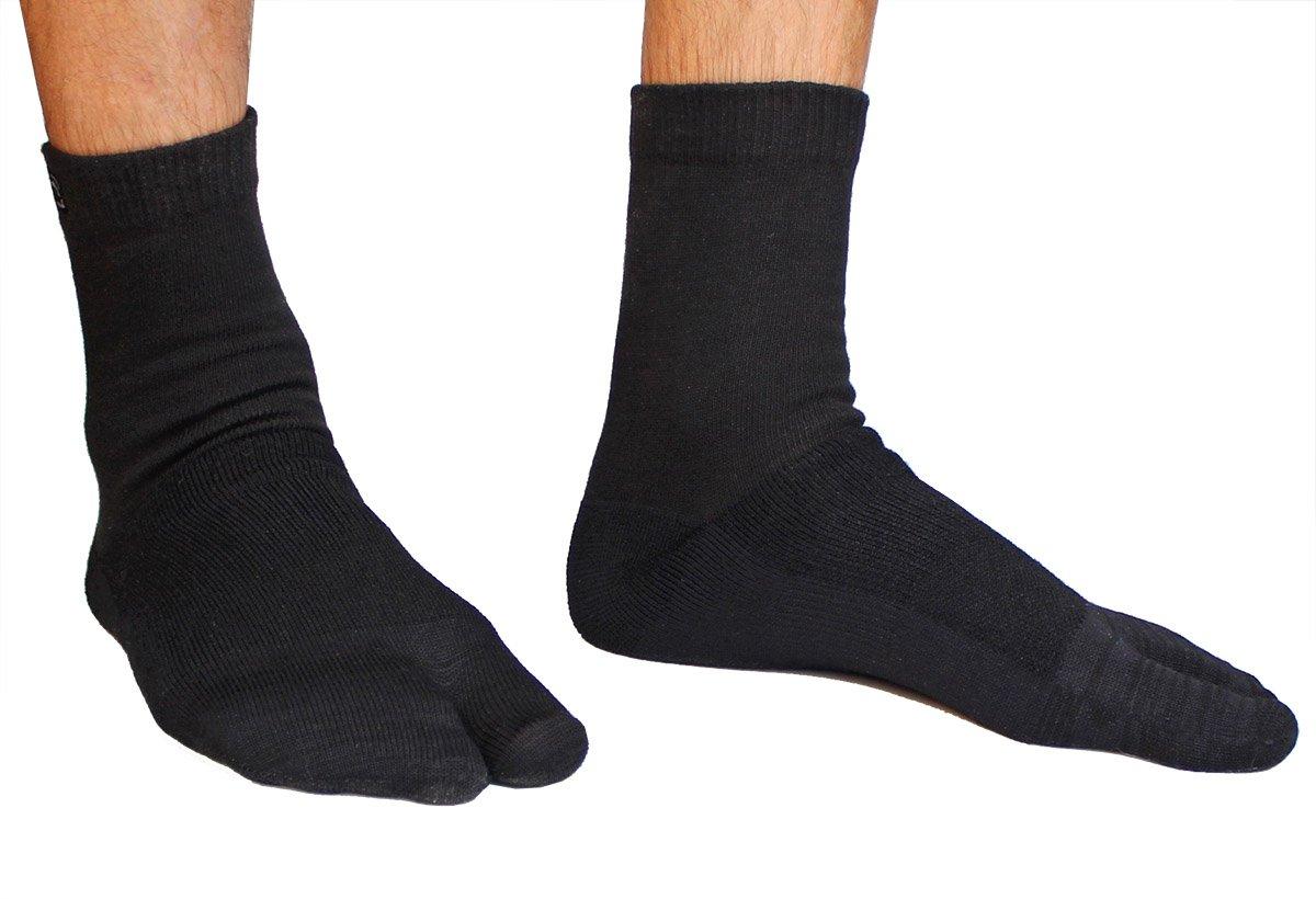 Crew Wool Tabi Socks - Black Picture 5