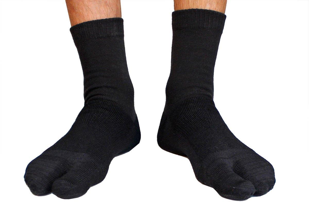 Crew Wool Tabi Socks - Black Picture 4