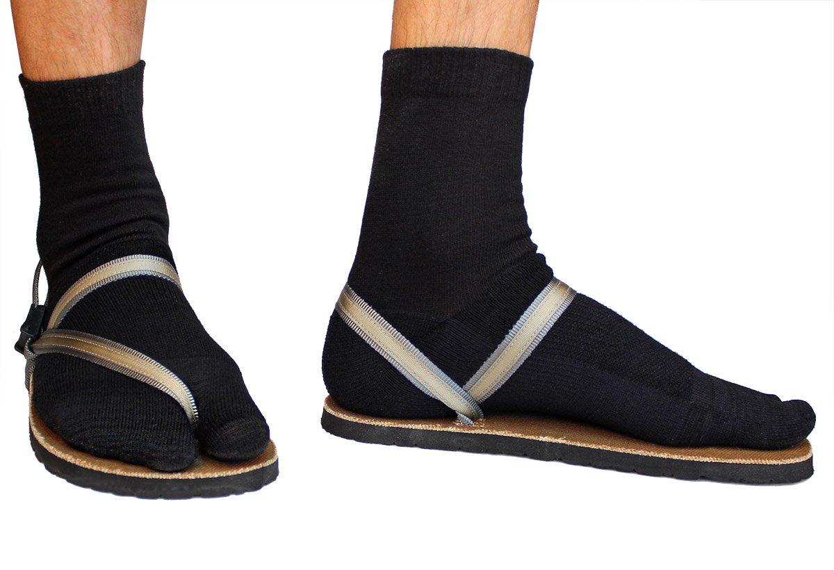 Crew Wool Tabi Socks - Black Picture 1