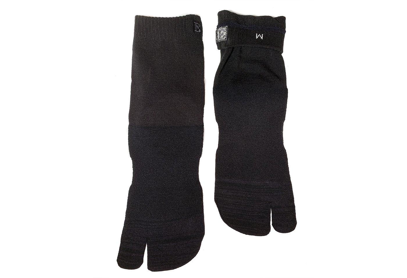 Crew Wool Tabi Socks - Black Picture 7
